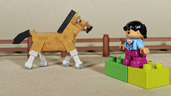untitled (Busted.Knuckles) Tags: home toys lego duplo girl minecraft horse olympusomdm10mkii dxoopticspro11