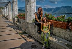 Beautiful Scenery (Jenny Pics) Tags: scenery pillars view people texture lighting old young terrace ravello italy sky blue colour shadows