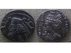 Phraataces and Musa (Baltimore Bob) Tags: coin money silver drachm parthia parthian persia persian phraatesv phraataces phraatakes musa incest oedipalcomplex