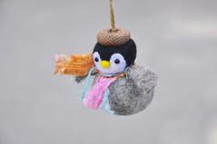 Penguin ornament (noristudio3o) Tags: needle felted penguin ornament noristudio nori studio handmade baby christmas