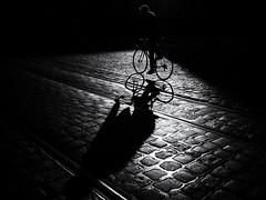 shadow biker (Sandy...J) Tags: olympus blackwhite bw streetphotography monochrom silhouette biker sw germany noir
