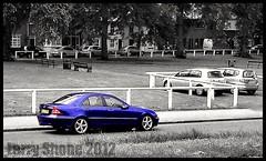 2004 C Class (larry_shone) Tags: car mercedes cclass urban selectivecolour blue