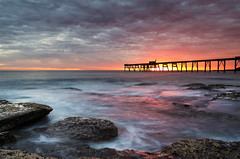 Catherine Hill Bay Sunrise (JasonBeaven) Tags: catherinehillbay sunrise seascape centralcoast nsw australia focusaustralia sea ocean beach jetty pier morning sun colour