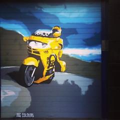 Road. (annaeme) Tags: axecolours shutter graffiti streetartbacelona spraypaint