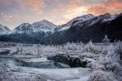 Brrr! (linderu) Tags: alaska naturecenter winter chugach landscape sunset eagleriver ice