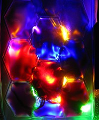 hexagons lit up (muffett68 ☺☺) Tags: hexagons winebottlecoolerbag