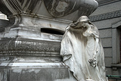 Exquisite marble statue at a grave (VinayakH) Tags: tombs tomb recoletacemetery recoleta larecoletacemetery cemetery buenosaires graves argentina latinamerica southamerica mausoleum artnouveau artdeco neogothic baroque architecture