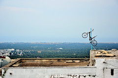 Ostuni (Giovanna Franco Photography) Tags: landscape landscapes nature photographer photography photostreet photo photos streetphotography street sud ostuni apulia nikond3200 nikon allaperto bycicle