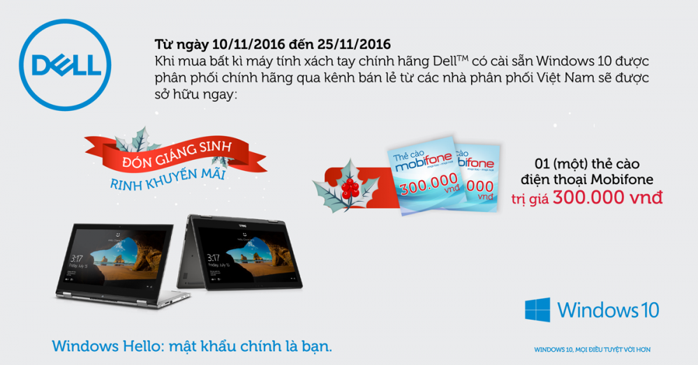 Cùng Dell đón Giáng Sinh - Rinh khuyến mãi
