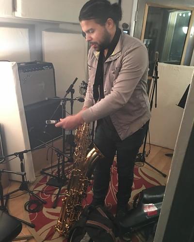 Here comes the bari sax. #mikeerrico #newmusic #comingsoon #rockandroll