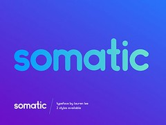 Get Somatic Rounded: A free font ideal for logotypes (vectorarea) Tags: bestfreescriptfont fonts logo sansserif
