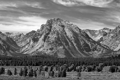 Bivouac Peak (BW), Grand Teton NP, Wyoming, September, 2015 (Norm Powell (napowell30d)) Tags: fineart blackandwhite bw landscape monochrome travel nationalpark grandtetonnationalpark jacksonlakelodge landscapes nps nationalparks wyoming