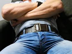 SB13 (armybelt007) Tags: beltfetish beltinjeans beltanddenim bulge belt leatherbelt leatheranddenim leatherandjeans wideleatherbelt widebelt sheriffbelt beltandjeans officerbelt dutybelt militarybelt armybelt crotch