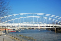 Bridge on Tisa river ,Szeged ,triple exposures (misi212) Tags: triple exposures tisa river szeged city