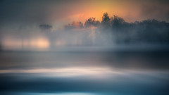 Mist (augustynbatko) Tags: mist nature lake landscape sun water trees outdoor clouds autumn sky cloud sunset
