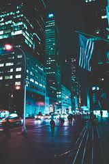 @FYABRIANSCOTT (fya_brianscott) Tags: new york city travel street urban explore adventure road light lights low exposure nikon wander dream people building architecture night time world nyc mood lighting no flash usa flag blue emotion fyabrianscott