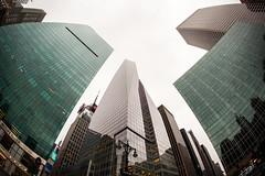 Down Below (Tim Drivas) Tags: newyorkcity newyork manhattan midtown skyline skyscraper bankofamericatower fisheye canon nyc gothamist buildings architecture