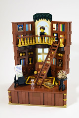 Private Library (lisqr) Tags: lego moc private library vignette