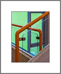 Kreuzungen (Crossings) (alfred.hausberger) Tags: kreuzungen geländer treppe farben abstraktion