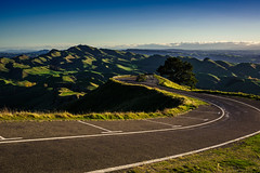 Waves (watchthewrld) Tags: horizon landscape sunset nature newzealand sony hills tones light shadows blue hawkesbay road napier warm afternoon sky sun a6000 colours travel mountain havelocknorth nz
