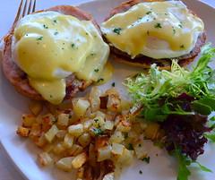 Eggs Benedict (pjpink) Tags: summer virginia potatoes august bistro richmond eggs brunch rva eggsbenedict carytown 2015 pjpink amourwinebistro