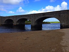 Lahinch beach walk (AlanJ97) Tags: bridge ireland summer lake beach sand clare walk arches lahinch lehinch