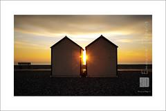 Be twin (Emmanuel DEPARIS) Tags: sunset mer beach seaside chalet cote plage emmanuel nord picarde dopale deparis