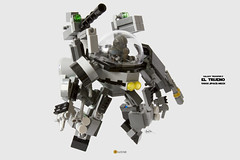El Trueno 1980s Space-Mech (clmntin.E) Tags: classic movie lego space military hard mini galaxy future scifi benny futuristic own mecha mech povray creations mocs minifigure the moc emmet afol ldd exo miniland hardsuits tropper my minifigurine exosuits spacemech