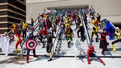 Avengers and X-Men. (PatLoika) Tags: costumes atlanta costume photoshoot cosplay xmen cosplayer marvel costuming marvelcomics dragoncon avengers costumer avx cosplayphotoshoot avengersvsxmen dragoncon2015 patlanta