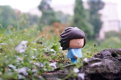 Arrived in Milan last weekend.... (Kewty-pie) Tags: park travel b milan travelling toy mini figure series toyphotography treeson bubiauyeung
