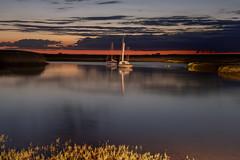 Brancaster Staithe, Norfolk, UK night shots (1) (Nick Bowman1) Tags: uk england boats nightshot unitedkingdom norfolk gb carheadlights brancasterstaithe sonya99 sonyzeissvariosonnar2470f28