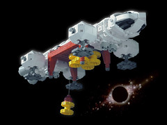 EAGLE 07 LEGO ((K_A) King_Arthur) Tags: show moon lune one tv noir lego eagle space 1999 modular scifi spaceship alpha moonbase ideas cosmos spacecraft transporter aigle