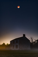 Super Blood Moon (IMIJRY Workshop) Tags: light red sky moon house fall fog night canon stars landscape photography eclipse blood glow photographer nj sigma super astro pollution craig jersey freehold 35 photog 6d 70200l