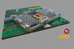 Peregrinium Fort, Hadrian's Wall (peggyjdb) Tags: rome grass wall river landscape lego northumbria bakery hadrian frontier hadrianswall legion granary latrine gatehouse barrack headquaters legionaries