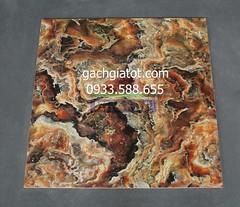 Gạch bóng kiếng vân đá đỏ hổ phách 60x60