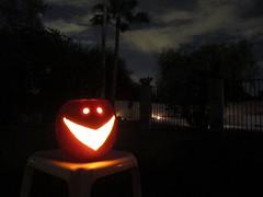 Happy Halloween! (zoniedude1) Tags: arizona sky halloween phoenix night scary jackolantern az boo spirits moonlit smiley grinning moonlight nightscene happyhalloween moonlitnight zoniedude1 canonpowershotg12 halloween2015