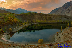 phandar lake ,ghizar, pakistan (TARIQ HAMEED SULEMANI) Tags: travel autumn lake tourism colors clouds trekking canon falls tariq gilgit supershot ghizar theunforgettablepictures concordians phandar sulemani tariqhameedsulemani gilgitbaltistan