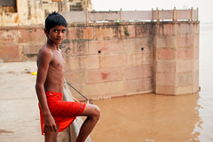 Rahul (alfieianni.com) Tags: boy shirtless portrait people india boys swimming teen abs ganges