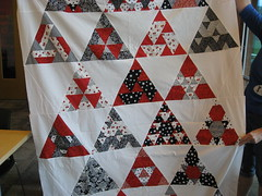 Renee's Red & White Triangles (roaringforkquiltguild) Tags: july23