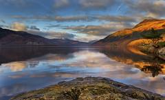 Loch Lomond in autumn (dscott14) Tags: autumn sunset snow mountains reflections landscape loch lochlomond tarbet rowardennan