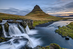 Good Morning Kirkjufell ! (CResende) Tags: longexposure travel color water colors clouds sunrise river landscape flow waterfall iceland nikkor kirkjufell snæfellsnes 1635 d810 cresende formatthitech