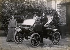 Mary Blathwayt, Annie Kenney and Margaret Hewitt, 1909.