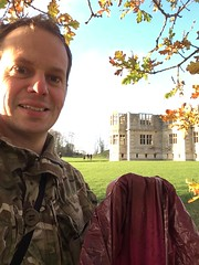 Me, with my bag of sloes (dark_dave25) Tags: new november cold sunny national trust sloes 2015 lyveden bield