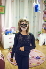 Calavera (p!o) Tags: portrait halloween dark dayofthedead skull makeup diademuertos calavera d700 emmapooh