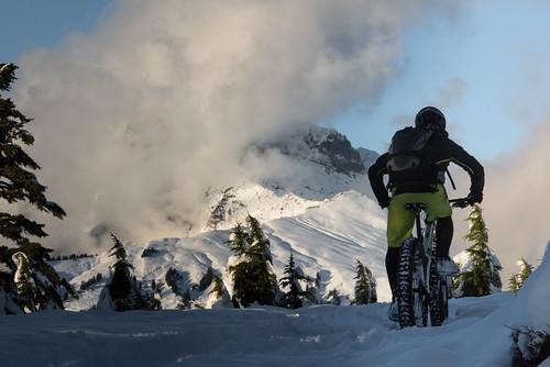 Garibaldi first snow and Paul Ridge Fat Bike ride Nov 3 2015-1