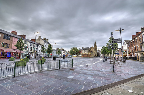 Caernarfon Town Centre, North Wales.