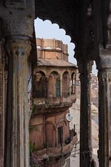 Bhonsale Palace, Varanasi (ghostwheel_in_shadow) Tags: india window asia arch varanasi kashi banaras benares uttarpradesh banares architecturalelement architectureandstructures bhonsaleghat bhonsalepalace