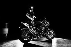 biker mode on (Michele Tollapi) Tags: speed df triumph 1050 speedtriple dainese airoh strobist sigma35f14art nikondf