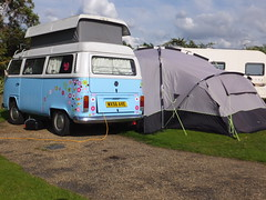 Popping out in all directions (stevenbrandist) Tags: park vw volkswagen awning bay norfolk tent wellsnextthesea familyholiday pinewoods 2015 wx56ave