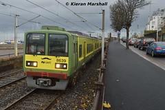 8639+8640 outside Salthill and Monkstown, 5/12/15 (hurricanemk1c) Tags: irish train salthill rail railway trains railways dart irishrail 2015 monkstown iarnród 8639 éireann iarnródéireann salthillandmonkstown tokyucarcorp 1325brayhowth class8521